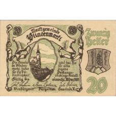 Blindenmarkt N.Ö. Gemeinde, 1x10h, 1x20h, 1x50h, Set of 3 Notes, FS 93IIa