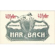 Harbach Kärnten Gemeinde, 100 Printed, 40 Heller, FS 348IaB