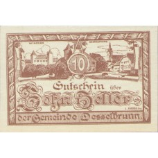 Desselbrunn O.Ö. Gemeinde, 1x10h, 1x20h, 1x50h, Set of 3 Notes, FS 119a