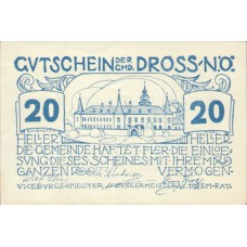 Dross N.Ö. Gemeinde, 1x10h, 1x20h, 1x50h, Set of 3 Notes, FS 135.10