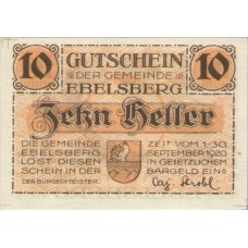 Ebelsberg O.Ö. Gemeinde, 1x10h, 1x20h, 1x50h, Set of 3 Notes, FS 140Ia