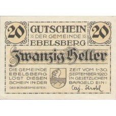 Ebelsberg O.Ö. Gemeinde, 1x20h, 1x50h, 1x80h, Set of 3 Notes, FS 140II