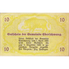 Eberschwang O.Ö. Gemeinde, 1x10h, 1x20h, 1x50h, Set of 3 Notes, FS 145a