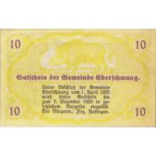 Eberschwang O.Ö. Gemeinde, 1x10h, 1x20h, 1x50h, Set of 3 Notes, FS 145a