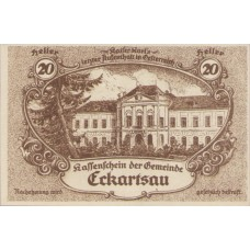 Eckartsau N.Ö. Gemeinde, 1x20h, 1x30h, 1x50h, 1x80h, Set of 4 Notes, FS 149a