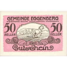 Eggenberg O.Ö. Gemeinde, 1x10h, 1x20h, 1x50h, Set of 3 Notes, FS 161