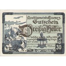 Eisenerz Stm. Marktgemeinde, 1x10h, 1x30h, 1x50h, Set of 3 Notes, FS 169