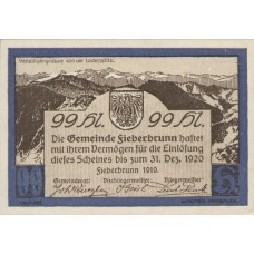 Fieberbrunn Tirol Gemeinde, 1x10h, 1x30h, 1x40h, 1x50h, 1x75h, 1x99h, Set of 6 Notes, FS 200Ia