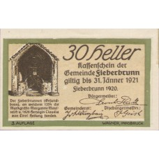 Fieberbrunn Tirol Gemeinde, 1x10h, 1x30h, 1x40h, 1x50h, 1x75h, 1x99h, Set of 6 Notes, FS 200Ic