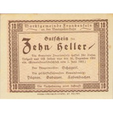 Frankenfels N.Ö. Marktgemeinde, 1x10h, 1x20h, 1x50h, Set of 3 Notes, FS 208a