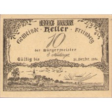 Freinberg O.Ö. Gemeinde, 1x10h, 1x20h, 1x50h, Set of 3 Notes, FS 211Ib