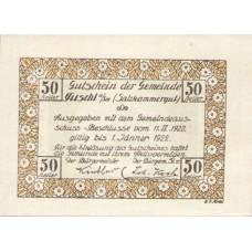Fuschl Am See Sbg. Gemeinde, 50 Heller, FS 215aA