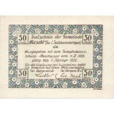 Fuschl Am See Sbg. Gemeinde, 50 Heller, FS 215d