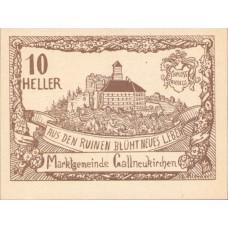 Gallneukirchen O.Ö.  Marktgemeinde, 1x10h, 1x20h, 1x50h, Set of 3 Notes, FS 218a