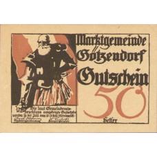 Götzendorf N.Ö. Marktgemeinde, 1x10h, 1x20h, 1x50h, Set of 3 Notes, FS 246IIa