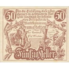 Gramastetten N.Ö. Marktkommune, 1x10h, 1x20h, 1x50h, Set of 3 Notes, FS 256
