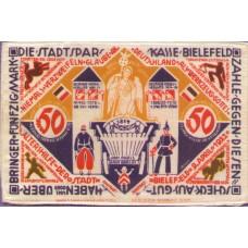 Bielefeld Stadt, 50 Mark, Silk, 050 unlisted variety
