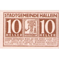 Hallein Sbg. Stadtgemeinde, 1x10h, 1x20h, 1x50h, Set of 3 Notes, FS 344Ia