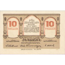 Hallein Sbg. Stadtgemeinde, 1x10h, 1x20h, 1x50h, Set of 3 Notes, FS 344IIa