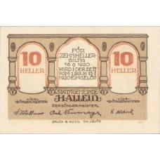 Hallein Sbg. Stadtgemeinde, 1x10h, 1x20h, 1x50h, Set of 3 Notes, FS 344IIa