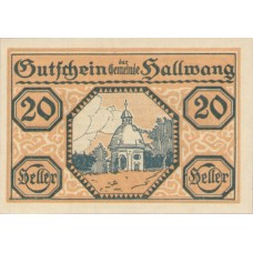 Hallwang Sbg. Gemeinde, 1x10h, 1x20h, 1x50h, Set of 3 Notes, FS 346a