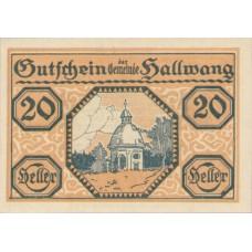 Hallwang Sbg. Gemeinde, 1x10h, 1x20h, 1x50h, Set of 3 Notes, FS 346a
