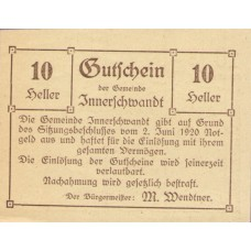Innerschwandt O.Ö. Gemeinde, 1x10h, 1x20h, 1x50h, Set of 3 Notes, FS 408