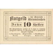 Kleinmünchen O.Ö. Gemeinde, 1x10h, 1x20h, 1x50h, Set of 3 Notes, FS 456a