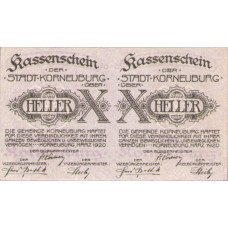Korneuburg N.Ö. Stadt, 1x20h, 1x50h, Set of 2 Notes, FS 466a