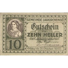 Laakirchen O.Ö. Gemeinde, 1x10h, 1x20h, 1x50h, Set of 3 Notes, FS 494b