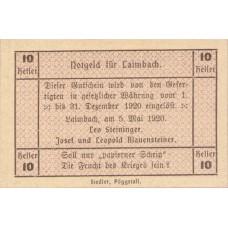 Laimbach O.Ö. Prv. Leo Steininger Josef U. Leopold Blauensteiner, 1x10h, 1x20h, 1x50h, Set of 3 Notes, FS 495