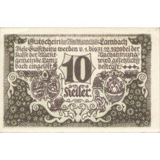 Lambach O.Ö. Marktgemeinde, 1x10h, 1x20h, 1x50h, Set of 3 Notes, FS 496a
