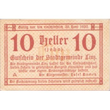 Linz O.Ö. Stadtgemeinde, 1x10h, 1x20h, 1x50h, Set of 3 Notes, FS 529b
