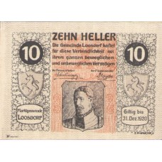 Loosdorf N.Ö. Marktgemeinde, 1x10h, 1x20h, 1x50h, Set of 3 Notes, FS 563a