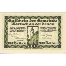 Marbach an der Donau N.Ö. Gemeinde, 1x10h, 1x20h, 1x50h, Set of 3 Notes, FS 579II