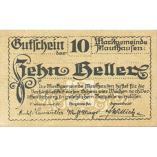 Mauthausen O.Ö. Marktgemeinde, 1x10h, 1x20h, 1x50h, Set of 3 Notes, FS 601Ia