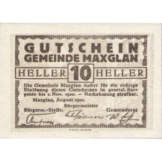 Maxglan Sbg. Gemeinde, 1x10h, 1x20h, 1x50h, Set of 3 Notes, FS 602a