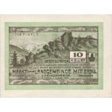 Mittersill Sbg. Markt Und Landgemeinde, 1x10h, 1x20h, 1x50h, Set of 3 Notes, FS 622a