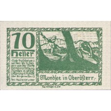 Mondsee O.Ö. Marktgemeinde, 1x10h, 1x20h, 1x50h, Set of 3 Notes, FS 626c1
