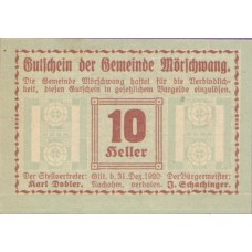 Mörschwang O.Ö. Gemeinde, 1x10h, 1x20h, 1x50h, Set of 3 Notes, FS 629b