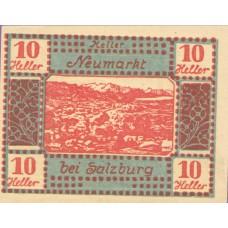 Neumarkt Bei Salzburg Sbg. Gemeinde, 1x10h, 1x20h, 1x50h, Set of 3 Notes, FS 660a