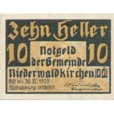 Niederwaldkirchen O.Ö. Gemeinde, 1x10h, 1x20h, 1x50h, Set of 3 Notes, FS 673a
