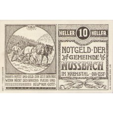 Nussbach im Kremstal O.Ö. Gemeinde, 1x10h, 1x20h, 1x50h, Set of 3 Notes, FS 676