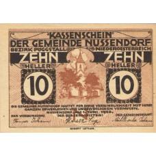 Nussendorf - Artstetten N.Ö. Gemeinde, 1x10h, 1x20h, 1x50h, Set of 3 Notes, FS 679a