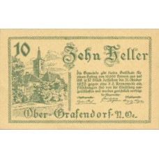 Ober-Grafendorf N.Ö. Gemeinde, 1x10h, 1x20h, 1x50h, Set of 3 Notes, FS 682a