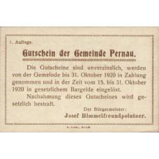Pernau O.Ö. Gemeinde, 1x10h, 1x20h, 1x50h, Set of 3 Notes, FS 734Ia