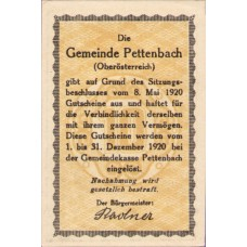 Pettenbach O.Ö. Gemeinde, 1x10h, 1x20h, 1x50h, Set of 3 Notes, FS 738