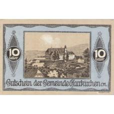 Pfarrkirchen im Mühlkreis O.Ö. Gemeinde, 1x10h, 1x30h, 1x80h, Set of 3 Notes, FS 744IIIb