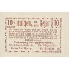 Regau O.Ö. Gemeinde, 1x10h, 1x20h, 1x50h, Set of 3 Notes, FS 825