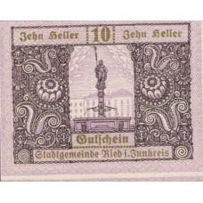 Ried im Innkreis O.Ö. Stadtgemeinde, 1x10h, 1x20h, 1x50h, Set of 3 Notes, FS 834IIa